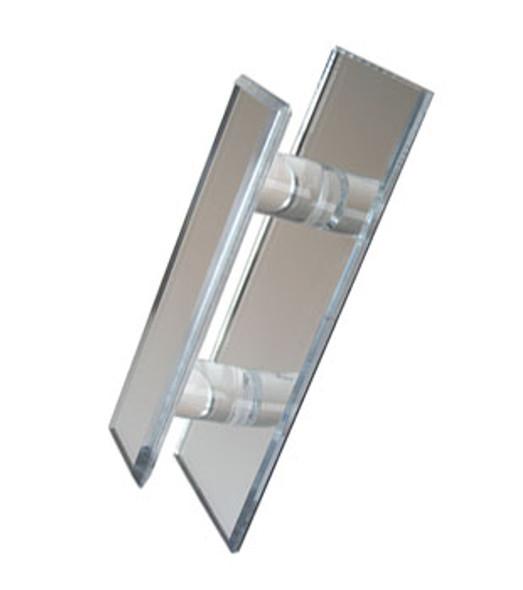 Acrylic Mirror Rectangular Base Pull - Rectangular Face