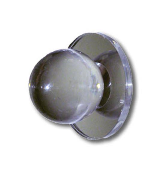"Acrylic Mirror Round Base Knob - 1""  Ball Face"