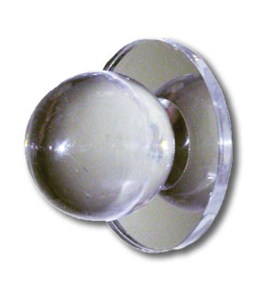 "Acrylic Mirror Round Base Knob - 1-1/4"" Ball Face"