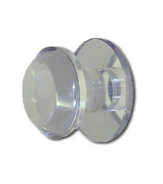 """Acrylic Mirror Round Base Knob - 1-1/4"""" Round Beveled Face"""