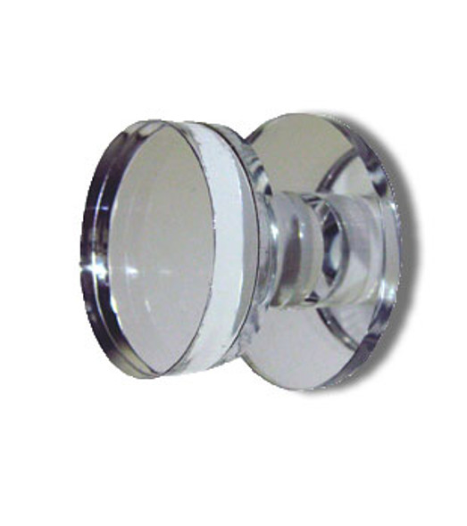 "Acrylic Mirror Round Base Knob - 1-1/4"" Round Face"