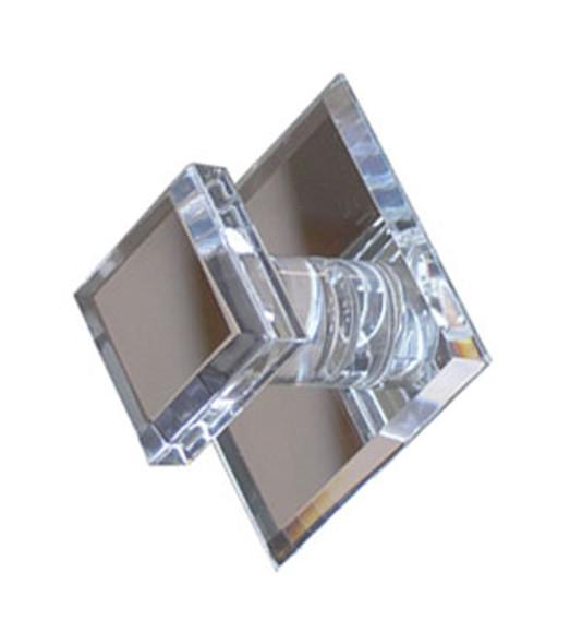 Acrylic Mirror Square Base Knob - Square Face