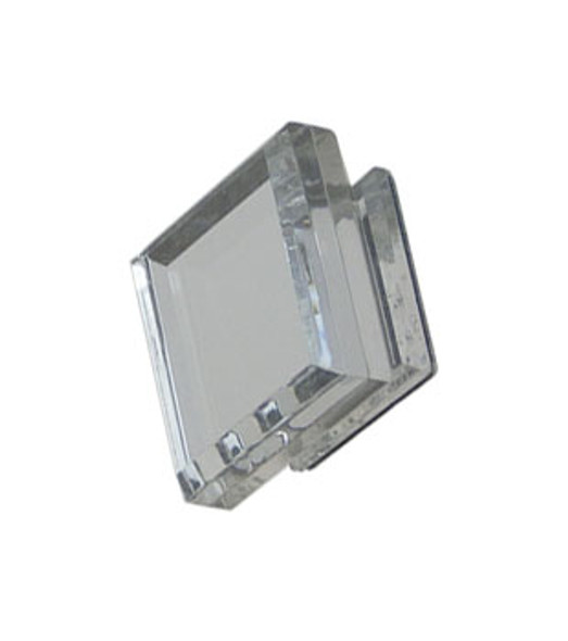 Acrylic Mirror Square Base Knob - Tapered Face