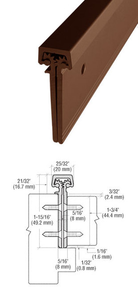 "Aluminum Geared Continuous Hinge Concealed 83"" Bronze Finish"