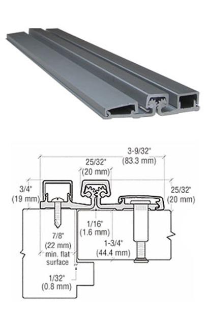 "Aluminum Geared Continuous Hinge For Narrow Frames 95"" Aluminum Finish"