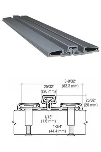 """Aluminum Geared Continuous Hinge Full Surface 95"""" Aluminum Finish"""