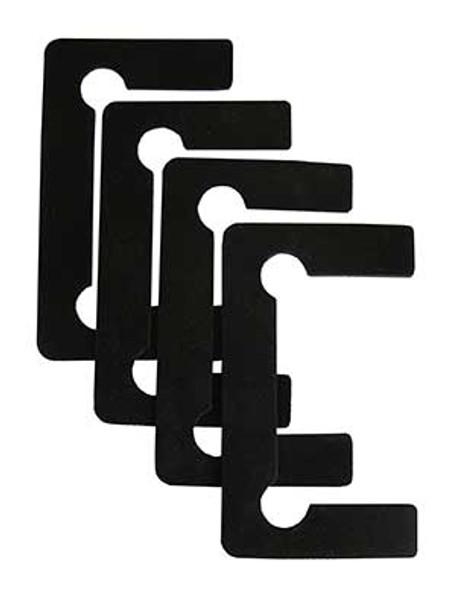 Black Neoprene Standard Size Shower Door Hinge Replacement Gasket Set