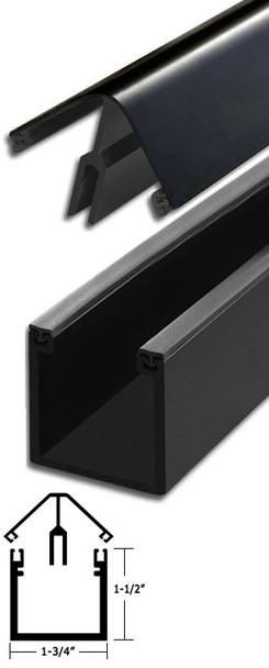"Bronze Anodized Aluminum 90 Corner Deep Back Division Bar 95"" Long"