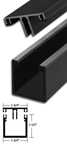 "Bronze Anodized Aluminum Deep Back Division Bar 95"" Long"