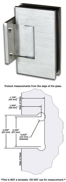 Brushed Nickel American Classic Wall Mount Short Back Plate Shower Door Hinge