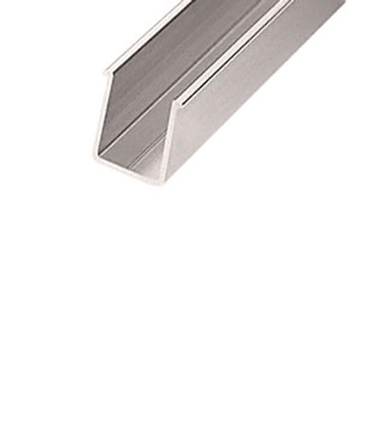 """Brushed Nickle Aluminum 36"""" Shower Door Header Pocket Filler"""