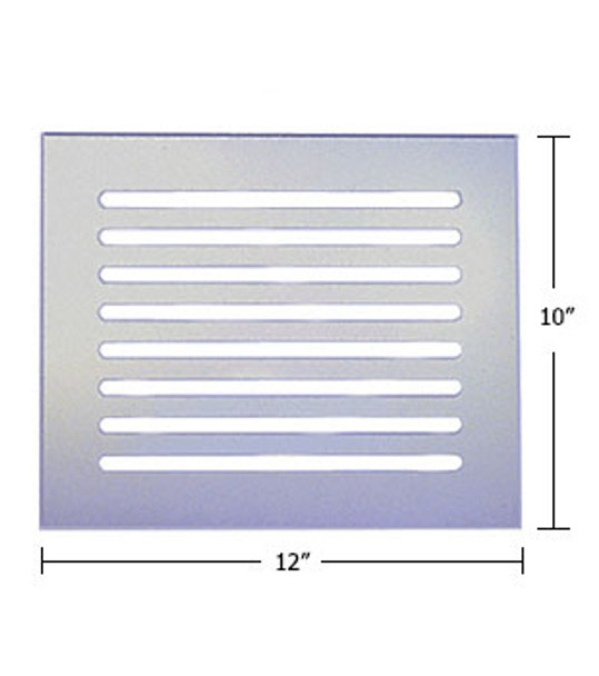 """Clear Acrylic Mirror Flat Grille 12"""" X 10"""""""