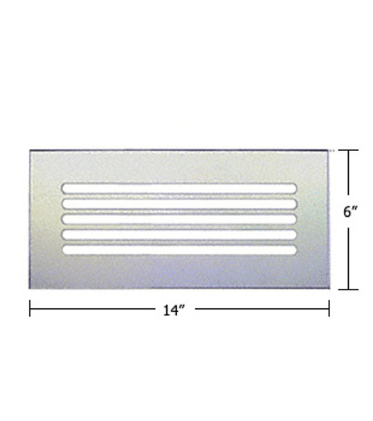 "Clear Acrylic Mirror Flat Grille 14"" X 6"""