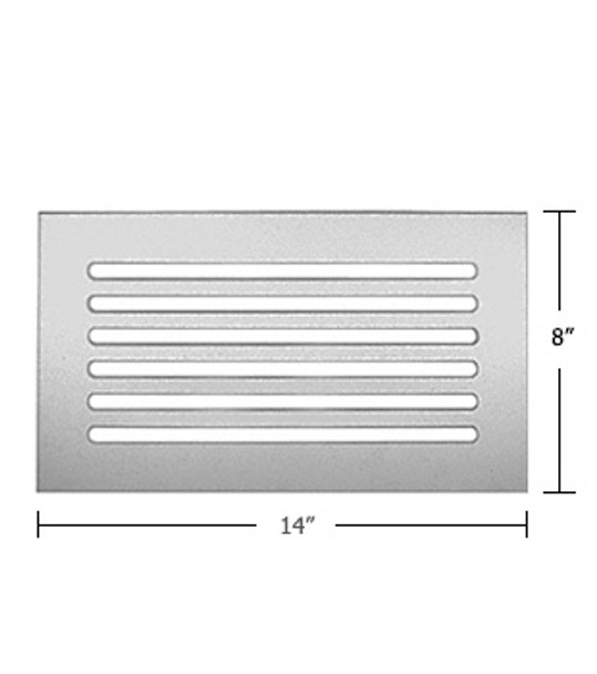 """Clear Acrylic Mirror Flat Grille 14"""" X 8"""""""