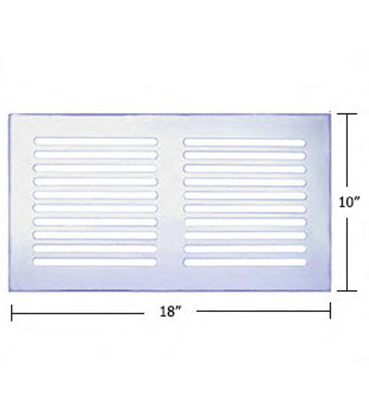 """Clear Acrylic Mirror Flat Grille 18"""" X 10"""""""