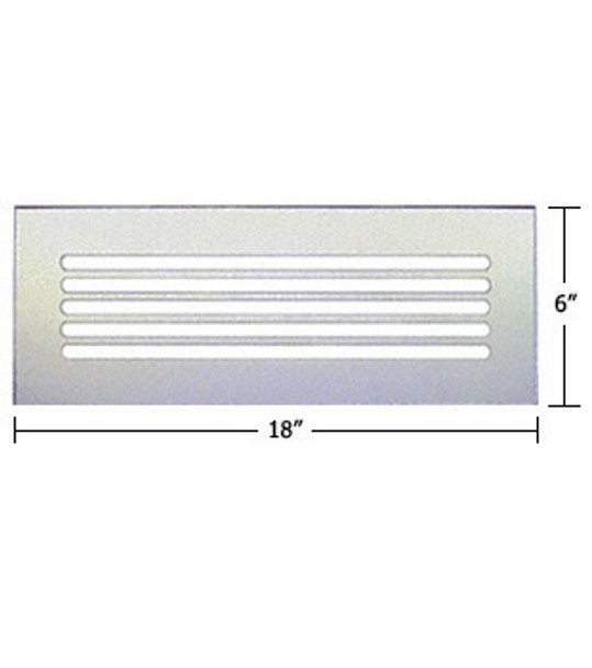 """Clear Acrylic Mirror Flat Grille 18"""" X 6"""""""