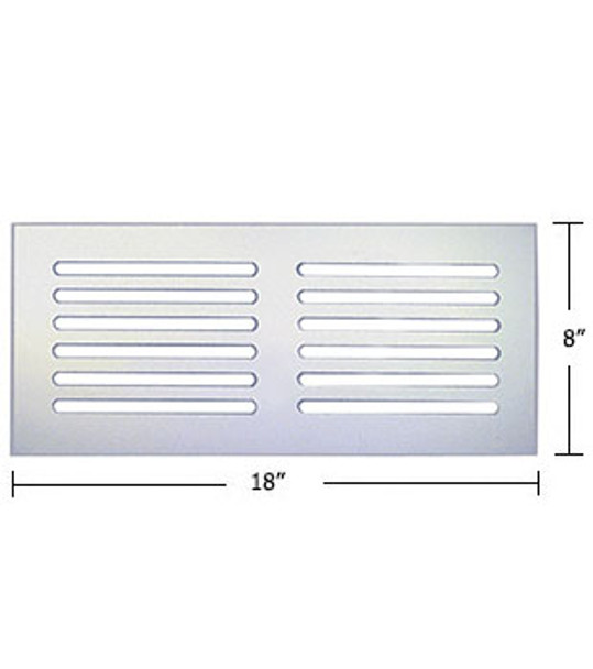 """Clear Acrylic Mirror Flat Grille 18"""" X 8"""""""