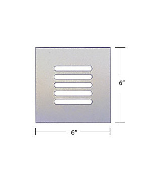 """Clear Acrylic Mirror Flat Grille 6"""" X 6"""""""
