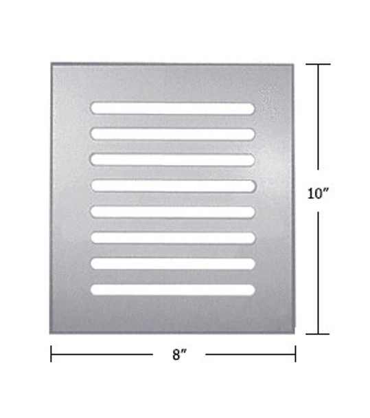 """Clear Acrylic Mirror Flat Grille 8"""" X 10"""""""