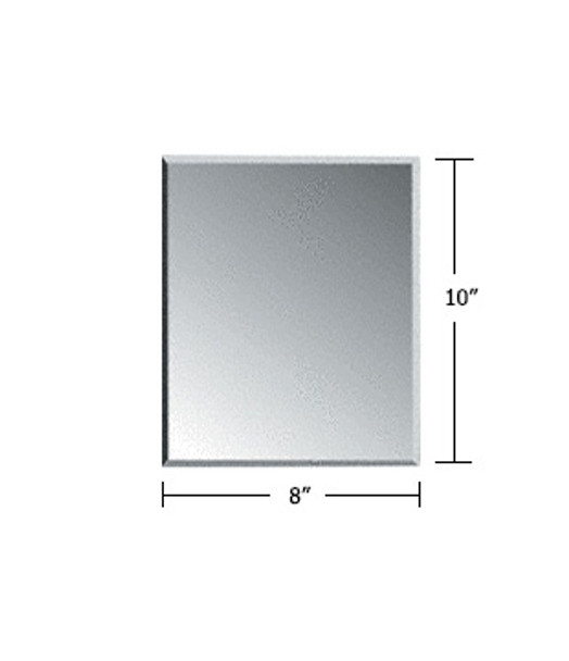 "Clear Acrylic Mirror Flat Grille Blank 8"" X 10"""