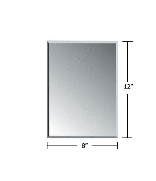 "Clear Acrylic Mirror Flat Grille Blank 8"" X 12"""