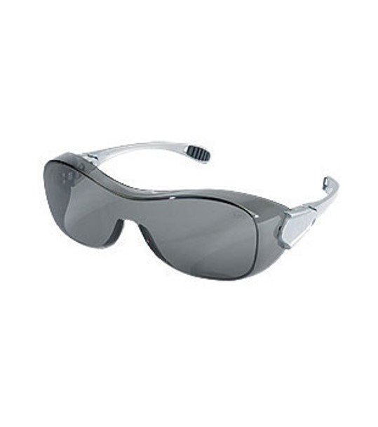 Crews Law OTG Dielectric Safety Glasses with Smoke Frame and Gray Lens