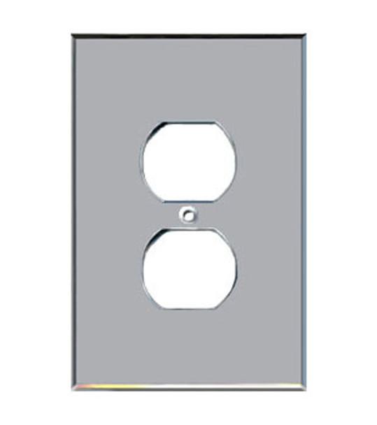 Custom Jumbo Single Duplex Acrylic Mirror Outlet Cover Plate