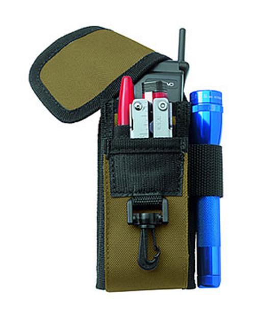 Custom LeatherCraft 1105 5 Pocket Cell Phone And Tool Holder