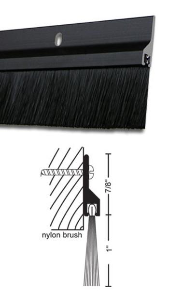 "Dark Bronze Anodized Aluminum with 1"" Brush Door Sweep 48"""