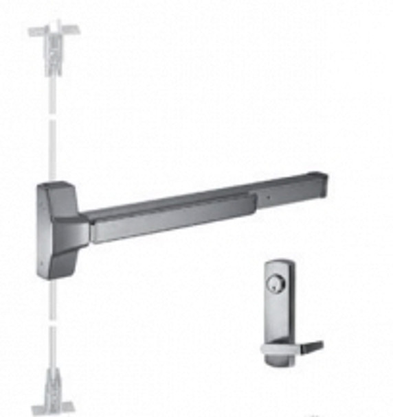"""Grade 1 Fire Rated CVR Panic Exit Device With HD Lever Trim US32D 48"""""""