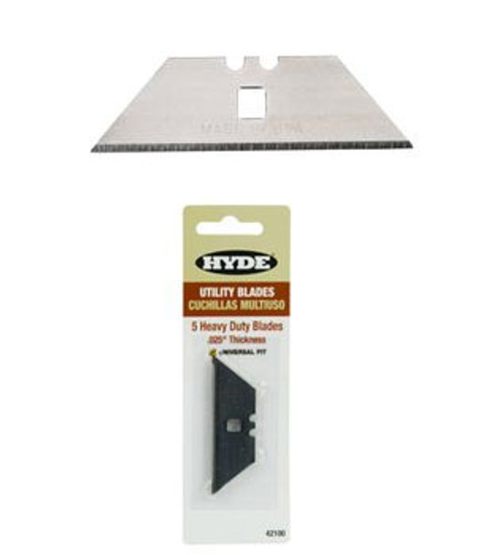 Heavy Duty Notched Utility Knife Blades 5 Pack