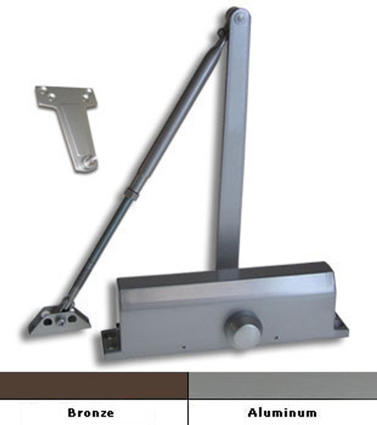 Int. #1804-BC Grade 1 Surface Mount Door Closer With Back-Check Size 4