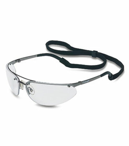 North Fuse Metal Safety Glasses with Gunmetal Frame and Clear Lens