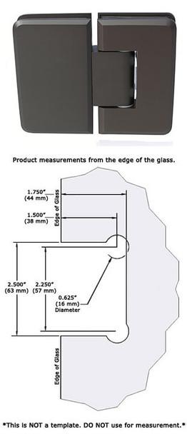 Oil Rubbed Bronze Cambridge 180 Degree Glass To Glass Shower Door Hinge