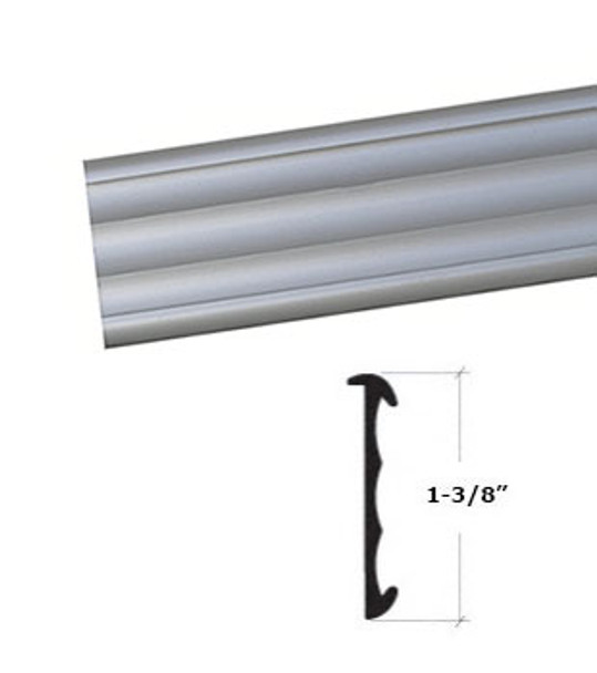 "Satin Anodized Aluminum Price Tag Molding Extrusion 95"""