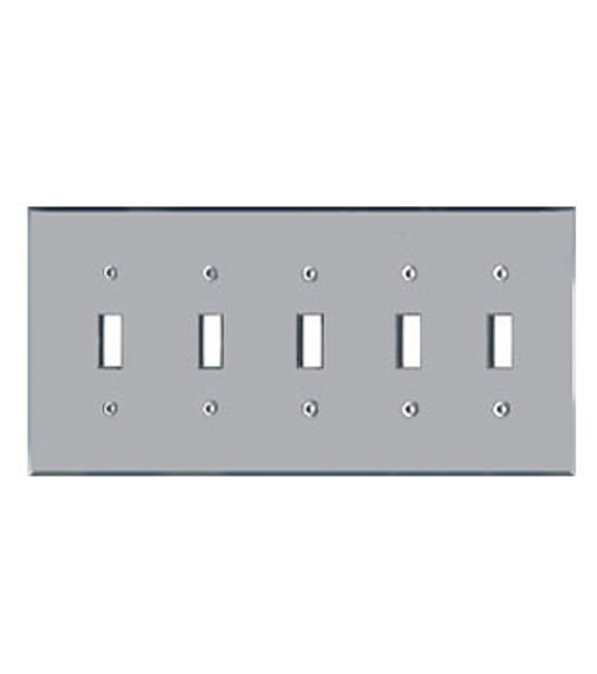 5 Gang Toggle Acrylic Mirror Switch Cover Plate