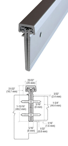 """Aluminum Geared Continuous Hinge Concealed 95"""" Aluminum Finish"""