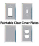 Paintable Clear Low Iron Glass Cover Plates