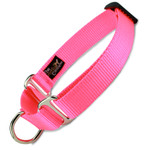 Hot Pink Martingale Collar, Limited Slip, Safety Dog Collar