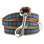 Plaid Dog Leash, Flower of Scotland Tartan, 4', 5', 6' Long, D-ring, Nylon