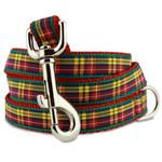 Plaid Dog Leash, Buchanan Tartan, 4', 5', 6' Long, D-ring, Nylon