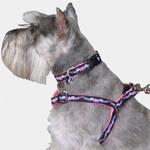 Heart-Wings Dog harness, Choke-Free Adjustable Stepin Style in Pink
