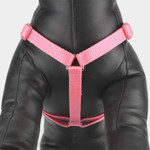 Pink Step-In Dog Harness, Adjustable, Choke Free, Nylon, front view