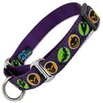 Halloween Martingale dog Collar, Purple, Limited Slip Safety Collar