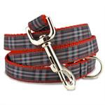 Plaid Dog Leash, Pride of Scotland, 4', 5', 6' Long, D-ring, Nylon