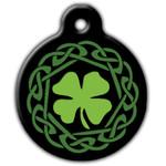 Irish Dog ID Tag, Celtic Dog ID Tag