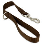 Short Traffic, City, Training Leash for Dogs, Brown Nylon