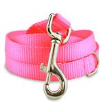 Hot Pink Nylon Dog Leash