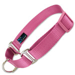 Raspberry Pink Martingale Dog Collar, Slip On, Adjustable Safety Collar