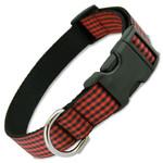 Buffalo Plaid Dog Collar, Red & Black gingham, Classic Flannel Check